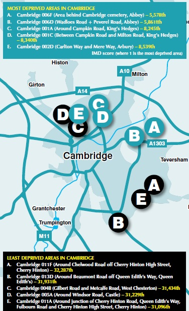 Deprivation in Cambridge - it exists!