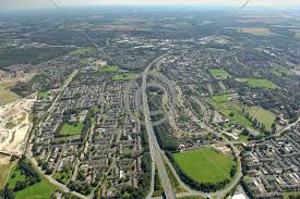 Aerial view of Basingstoke