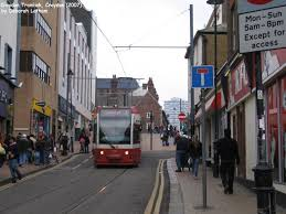 Trams in Croydon town centre